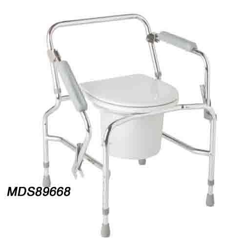 Medline Drop-Arm Commode - Steel