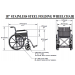 18 Inch Stainless Steel Wheelchair Specs