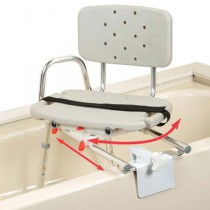 Transfer Bench Tub Mount with Back Swivel Molded Seat