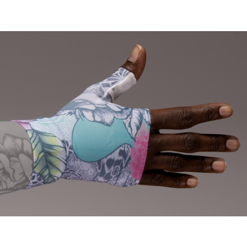 LympheDivas Tattoo Blossom Compression Gauntlet 30-40 mmHg