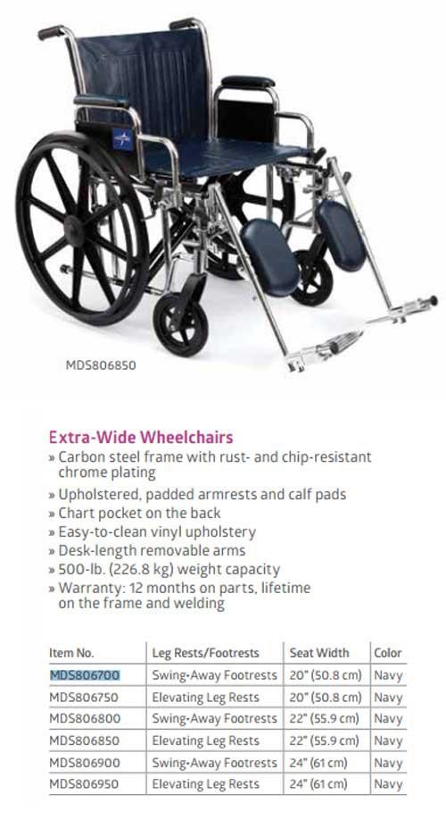 medline extra wide wheelchair 9fa