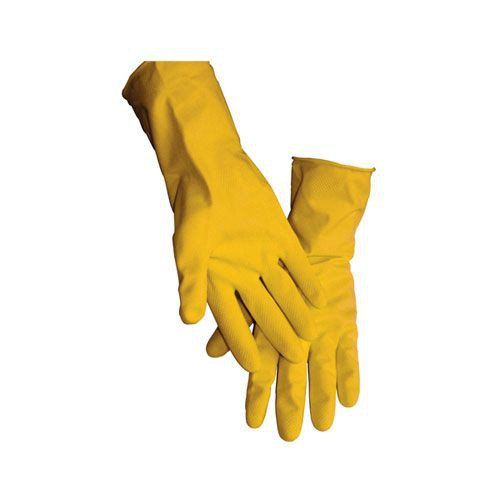 Latex Yellow Flock Lined Glove 16 mil