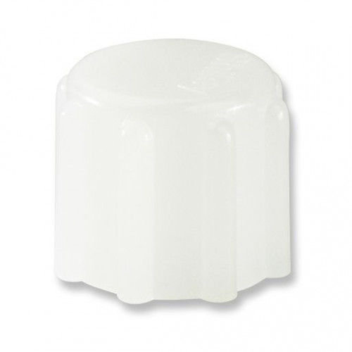 White, 15 mm Cap