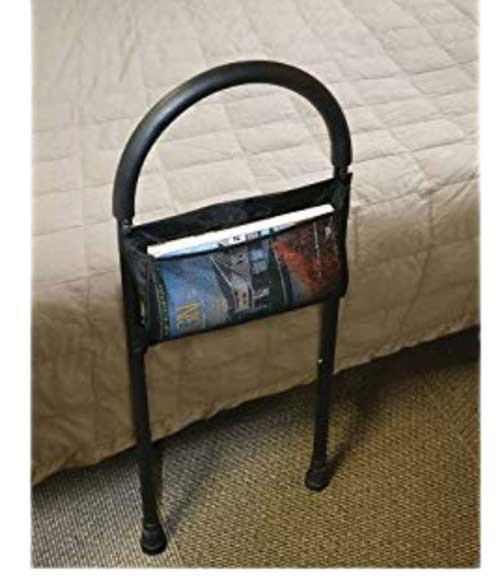 medline bed assist bar with storage pocket 39f