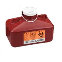 4.7 Quart Red Sharps Container with Rectangular Locking Cap 184R