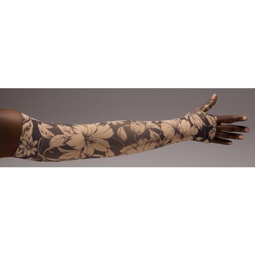 LympheDivas Bali Sand Compression Arm Sleeve 20-30 mmHg w/ Diva Diamond Band