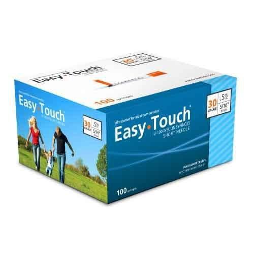 EasyTouch Insulin Syringe 30-Gauge, 5/16-Inch