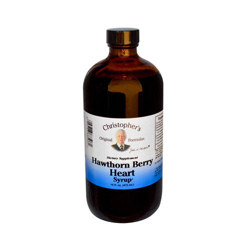 Christophers Hawthorn Berry Heart Syrup Dietary Supplement