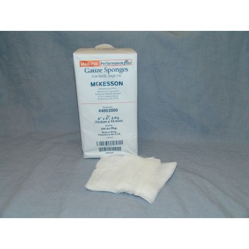 McKesson 44802000 Gauze Sponges 4x4 Inch 8 Ply