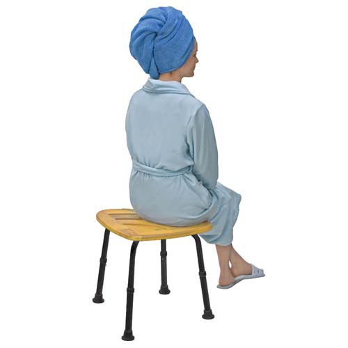 Bamboo Bath Seat Or Shower Chair Adjustable 52217045999