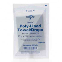 Medline Sterile Disposable Patient Drapes, Poly-Lined