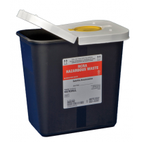 2 Gallon Black SharpSafety Waste Container with Snap Cap 8602RC