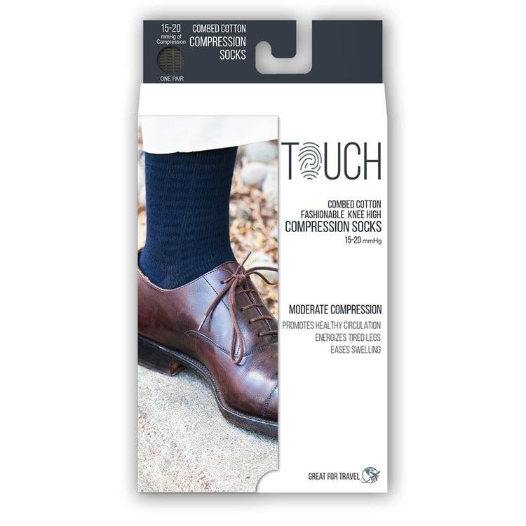 mens fine checkered compression socks 15 20 mmhg  b2a