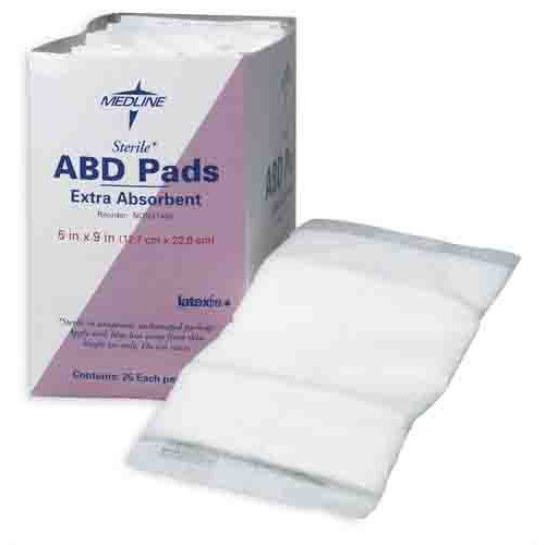 Medline Sterile Abdominal Pads, Individually Wrapped