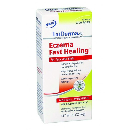 Triderma Eczema Fast Healing Cream,  2.2Oz Tube