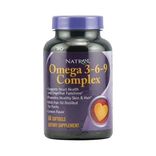 Natrol Omega 3 6 9 Complex Lemon