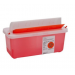 2 Quart Transparent Red SharpSafety Sharps Container In Room Container with Mailbox Style Lid 85031