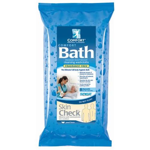 Sage Comfort Bath Cleansing Washcloths - Unscented