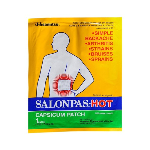 Salonpas Capsicum Patch Hot