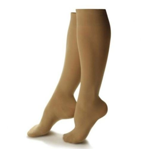 Beige Truly Sheer Fashion Knee Highs 20-30 mmHg