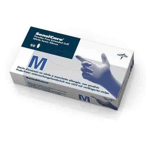SensiCare Powder-Free Nitrile Exam Gloves, Latex Free Non-Sterile - Long