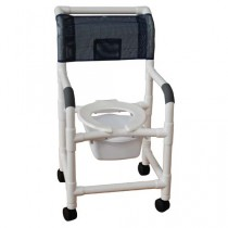 MJM PVC Shower Chair with Square Pail