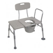 Bath Shower Transfer Bench with Commode Opening