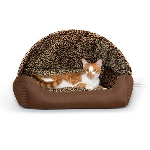 Thermo-Hooded Pet Lounger Bed
