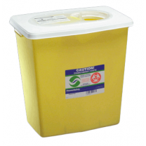 12 Gallon Yellow SharpSafety Chemotherapy Container with Slide Lid 8934