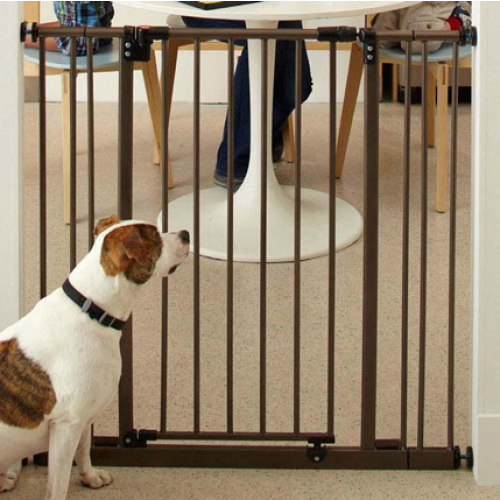 North States Extra Tall Deluxe Easy Close Wall Mounted Gate With 2 Extensions