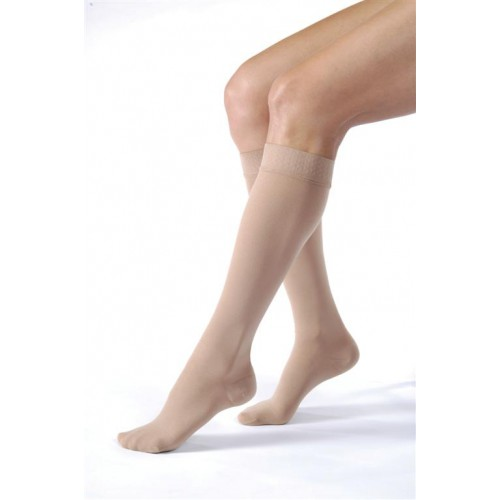 Jobst Relief Knee High Compression Socks Unisex w/ Silicone Top Band CLOSED TOE 20-30 mmHg