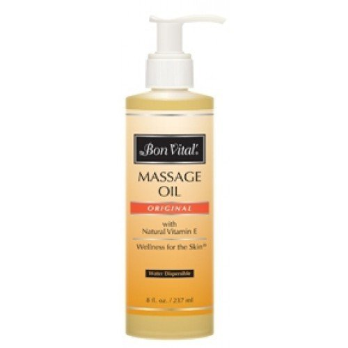 Bon Vital Massage Oil, 8 oz Bottle with Pump