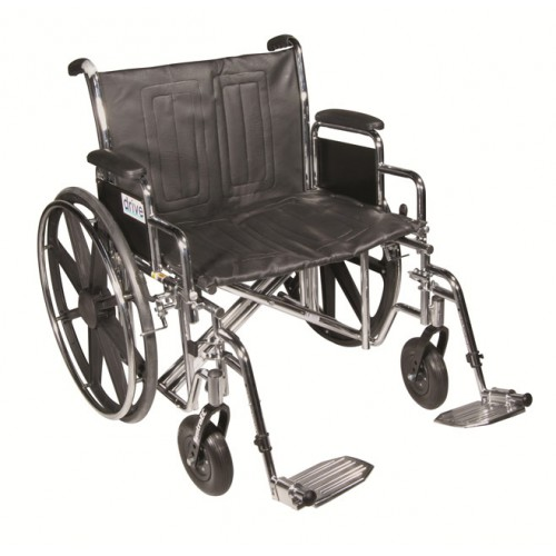Sentra EC HEAVY DUTY Wheelchair with Various Arm Styles and Foot Rigging Options