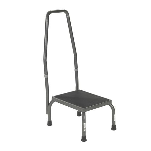 Drive Medical Footstool with Handrail and Non Skid Platform Pad 13031-1SV