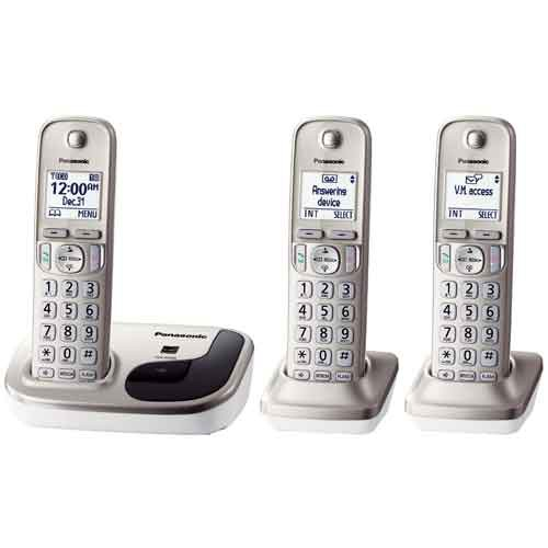 Three Handset Cordless Phone System