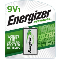 9V NiMH Energizer Recharge Rechargeable Batteries