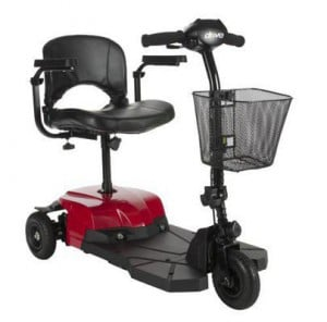 Drive Medical Bobcat X 3-Wheel Mobility Scooter - Front Side