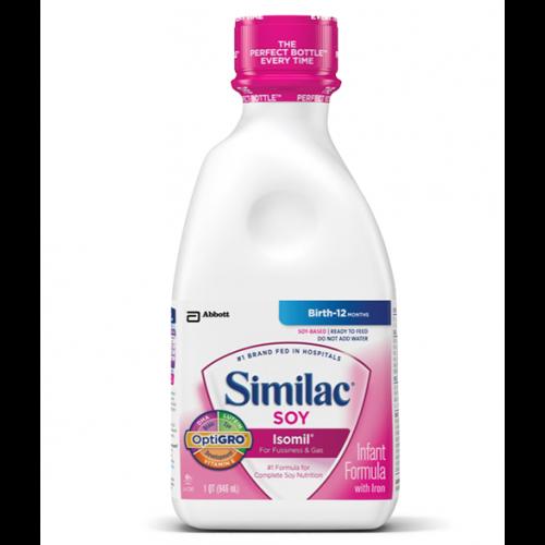 Similac Soy Isolmil 20 Calorie Per Ounce - 8 Oz Bottle
