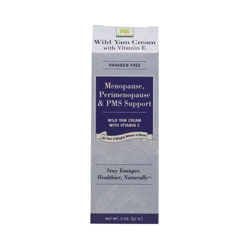 At Last Naturals Wild Yam Cream with Vitamin E for Menopause Relief