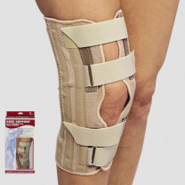 Knee Brace with Condyle Pads and Front Opening