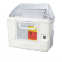 Locking Wall Cabinet with Large Viewing Window for Sharps Container 305551