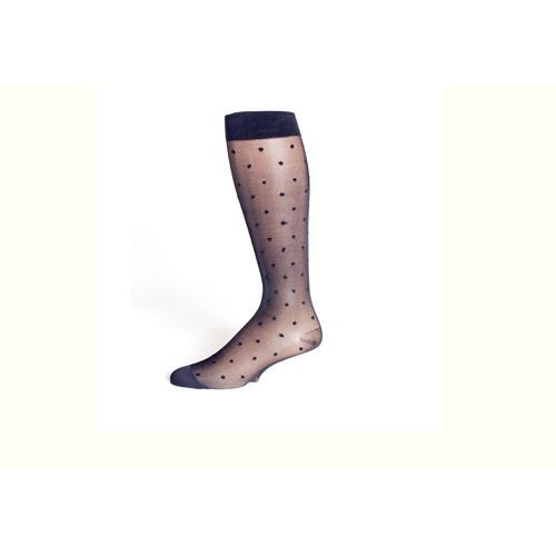 Rejuva Women's Sheer Dot Compression Hosiery Knee High 15-20 mmHg
