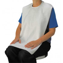 Drive Adult Bibs White Terry Cloth