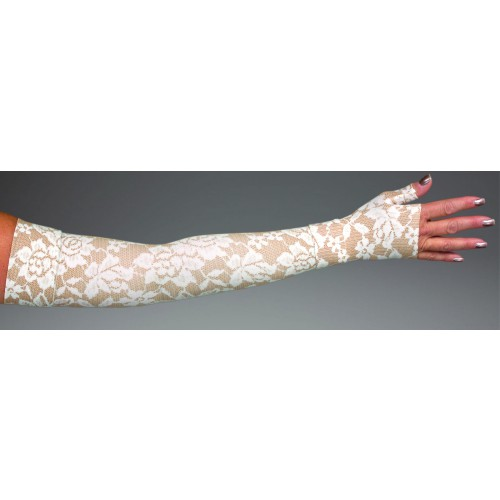 LympheDivas Darling Tan Compression Arm Sleeve 20-30 mmHg w/ Diva Diamond Band