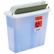 5 Quart Clear SharpSafety Sharps Container with Mailbox Style Lid 85121