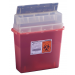 5 Quart Transparent Red Sharps-A-Gator Sharps Container Tortuous Path 31144010