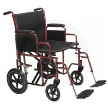 Heavy Duty Bariatric Steel Transport Chair by Drive