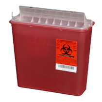 5 Quart Red Sharps Container with Rotating Chamber 141020