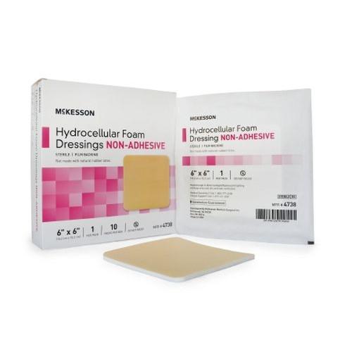 Mckesson Hydrocellular Foam Dressing 4 x 4 Inch - Sterile