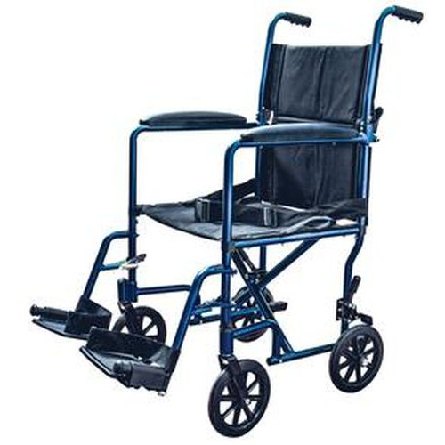 Aluminum Transport Chair with Swing Away Foot Rest